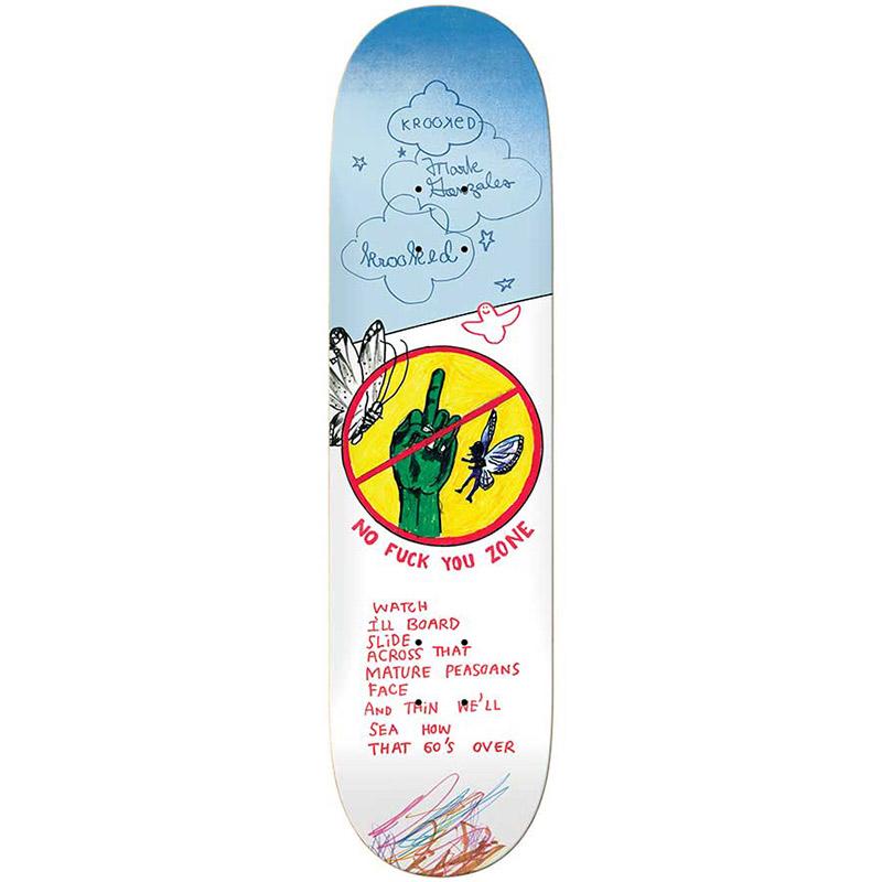 Krooked Gonzales Nofu Zone Skateboard Deck 8.62
