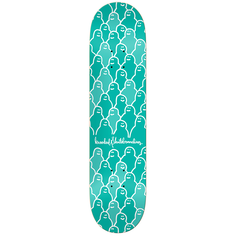 Krooked Krouded PP Green Skateboard Deck 8.06