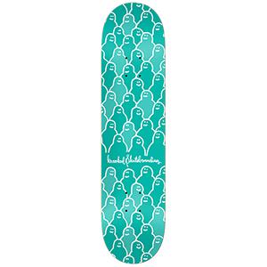 Krooked Krouded PP Green Skateboard Deck 8.06