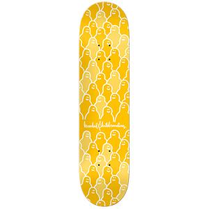 Krooked Krouded PP Yellow Skateboard Deck 8.25
