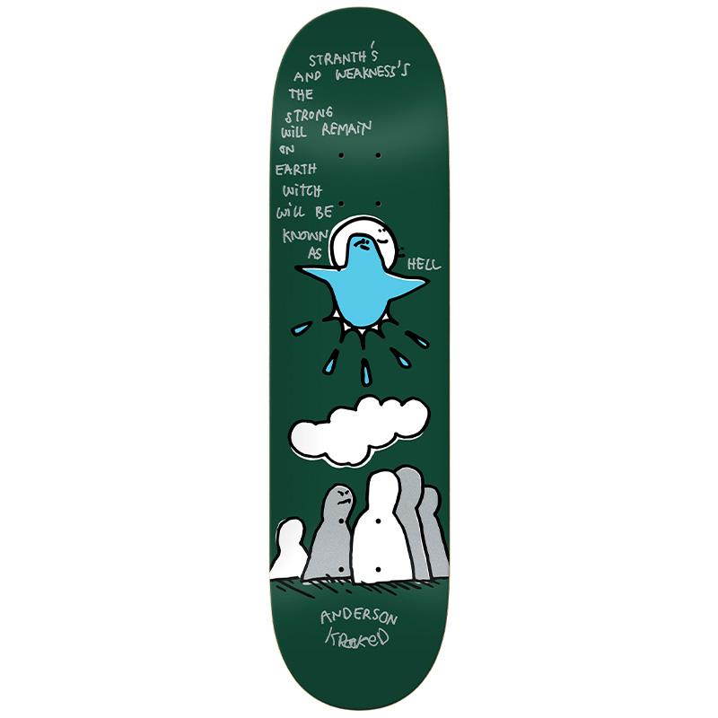Krooked Manderson Hell Skateboard Deck Green 8.25