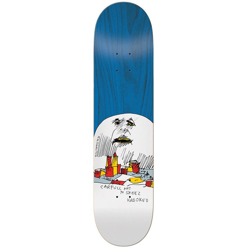 Krooked Manderson Moon Skateboard Deck 8.18