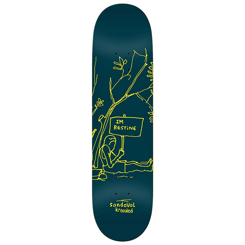 Krooked Ronnie Resting Skateboard Deck 8.5