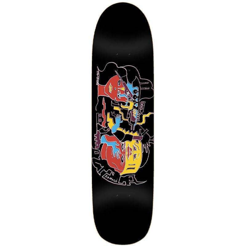 Krooked Sandoval Azteca Skateboard Deck Black 8.25