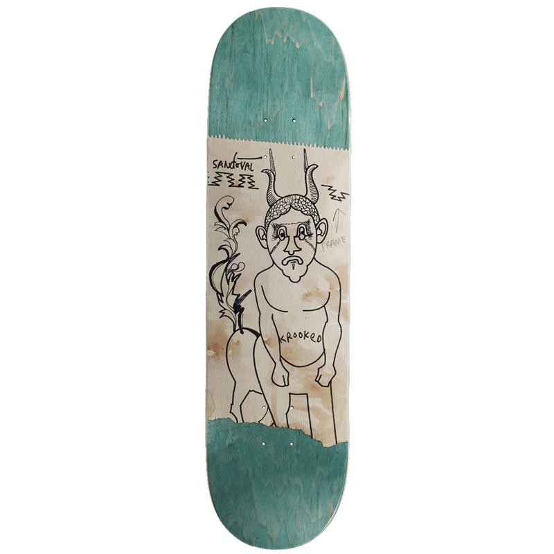 Krooked Sandoval Goat Dude Skateboard Deck 8.25