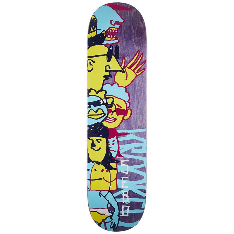 Krooked Sebo Dewds Skateboard Deck 8.25