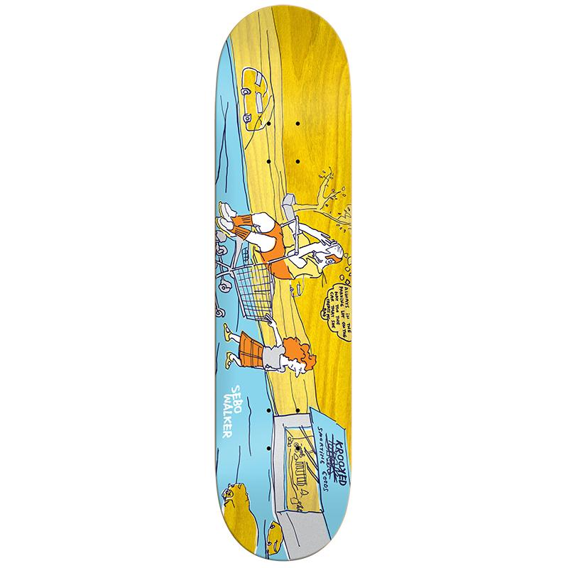 Krooked Sebo Dick Skateboard Deck 8.38
