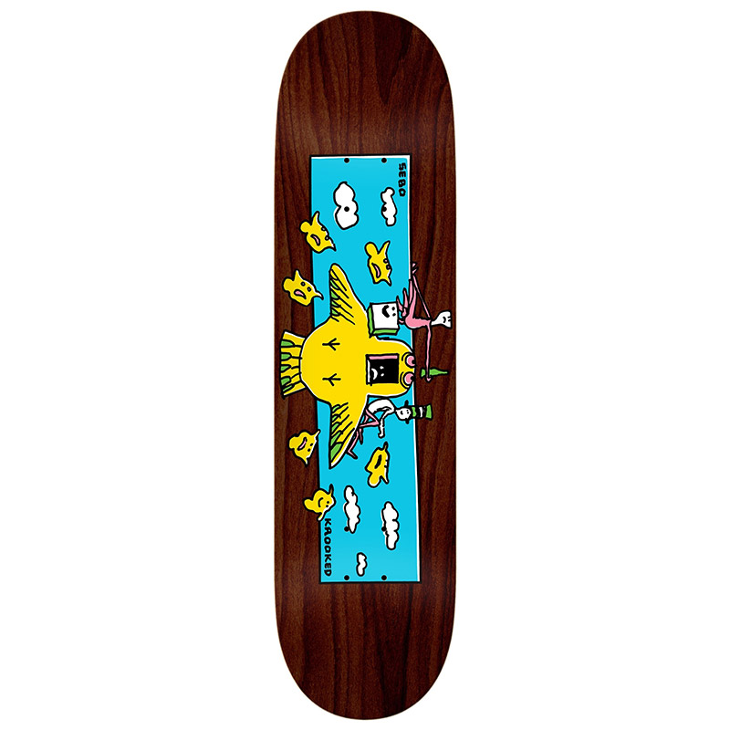 Krooked Sebo Hi Flyer Skateboard Deck 8.38