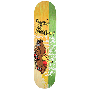 Krooked Sebo Paid For Skateboard Deck 8.06