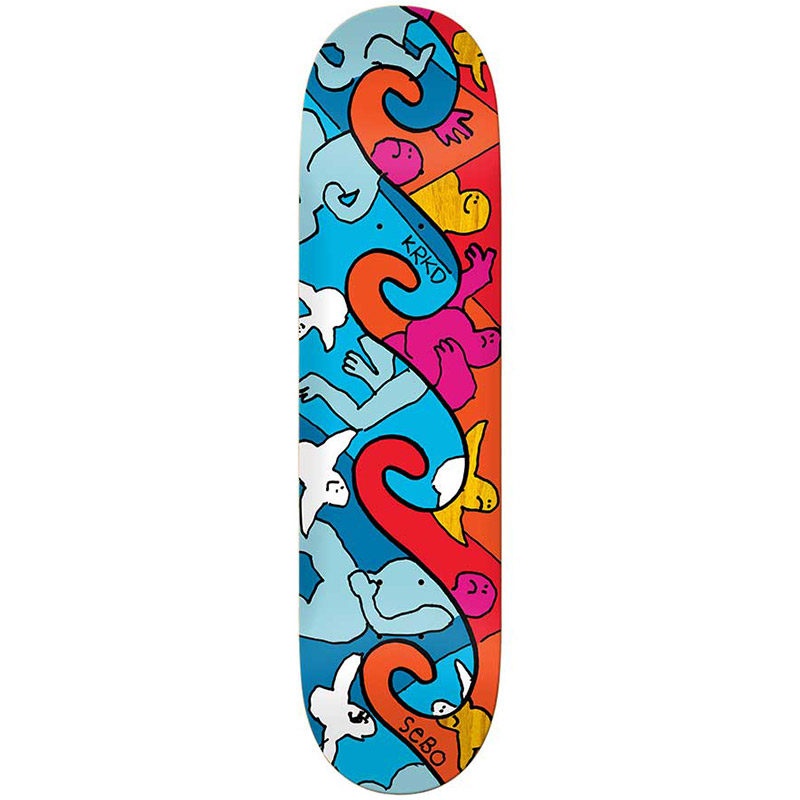 Krooked Sebo Waves Skateboard Deck 8.25