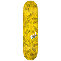 Krooked Skribbles Yellow Skateboard Deck 8.18