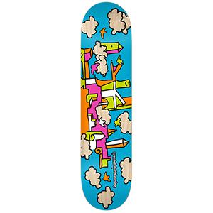 Krooked Skycastle Blue Skateboard Deck 8.06