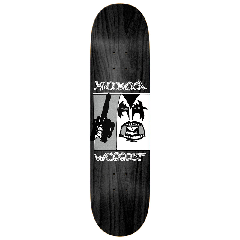 Krooked Worrest Destroy Slick Skateboard Deck 8.3