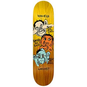 Krooked Worrest Noseeo Skateboard Deck 8.06