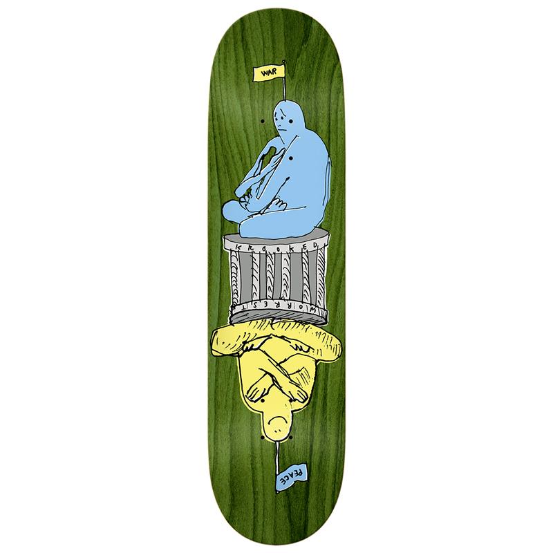 Krooked Worrest Peacewar Skateboard Deck 8.25