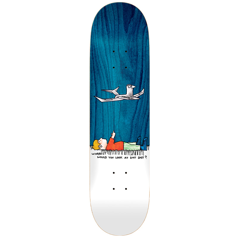 Krooked Worrest Would You Slick Twin Tail Skateboard Deck White 8.3 Twin Tail