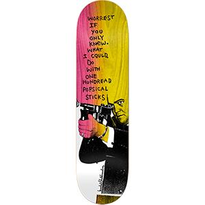 Krooked Worrest Zirox Poem Skateboard Deck 8.38