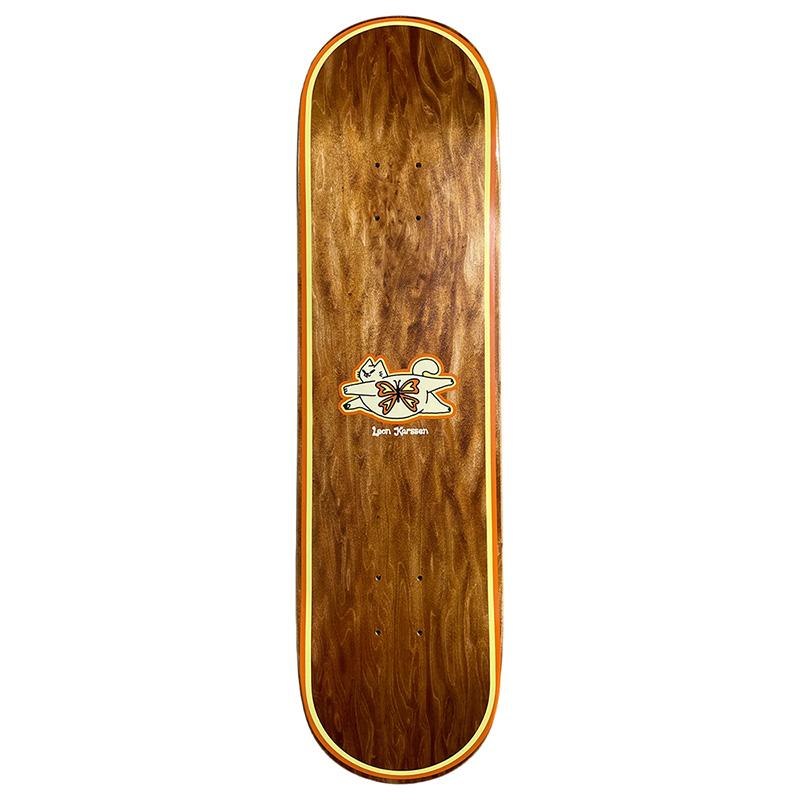 Leon Karssen Fatcatfly Skateboard Deck Brown/Yellow 8.25