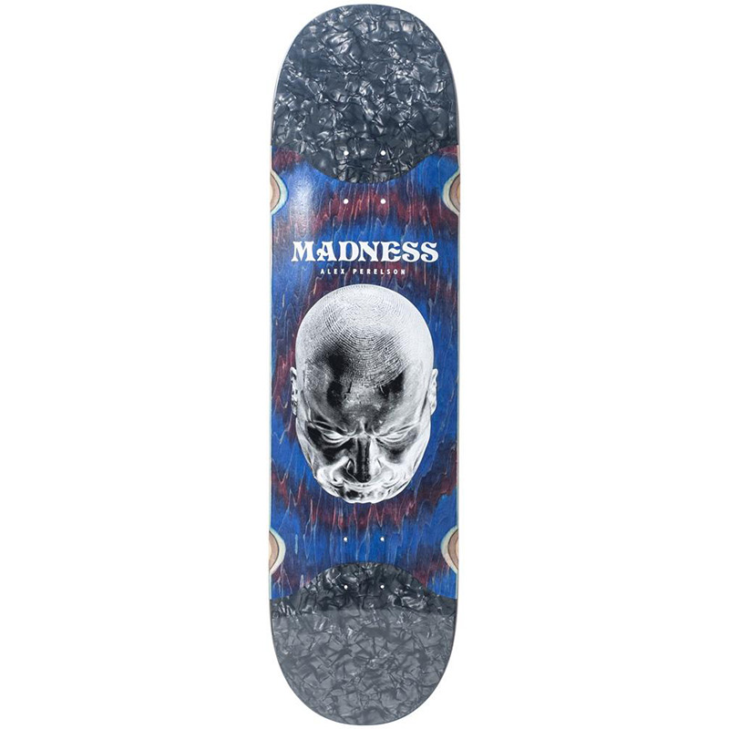 Madness Alex Perelson Mindset Slick Skateboard Deck Red Swirl 8.375
