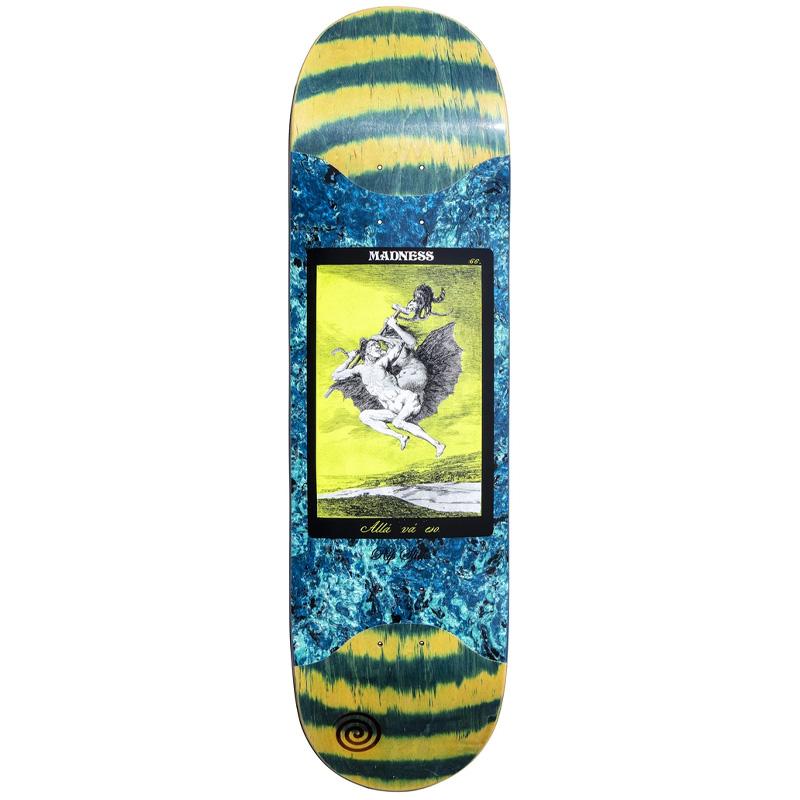 Madness Alla Popsicle R7 Slick Skateboard Deck Green Swirl 8.625