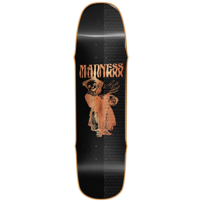 Madness Back Hand R7 Skateboard Deck Black 8.5