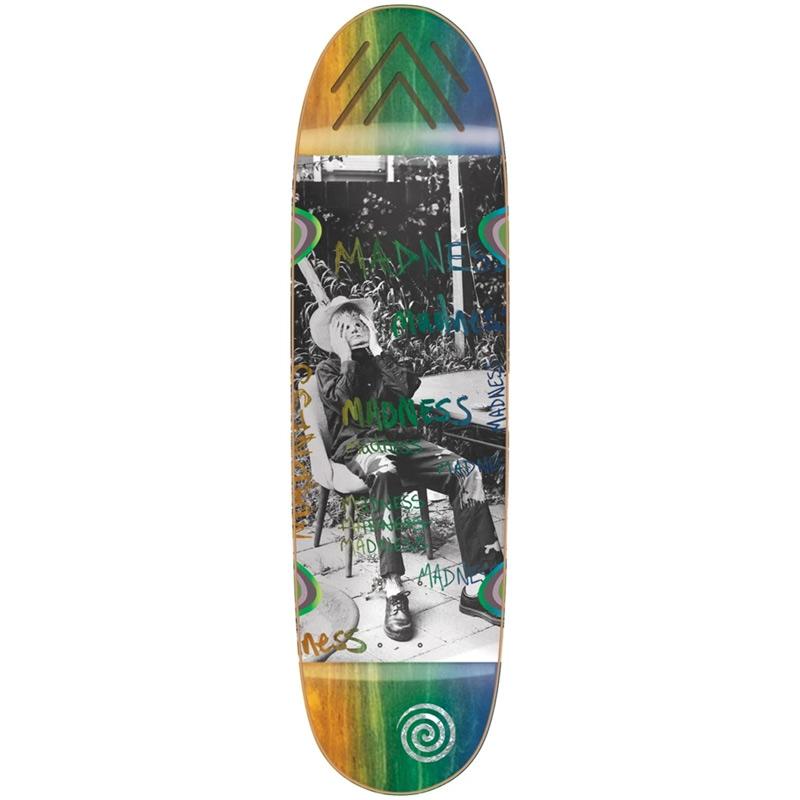 Madness Column R7 Skateboard Deck Blue/Orange 9.0