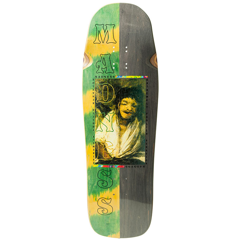 Madness EFB Portrait R7 Skateboard Deck Green/Black 10.0