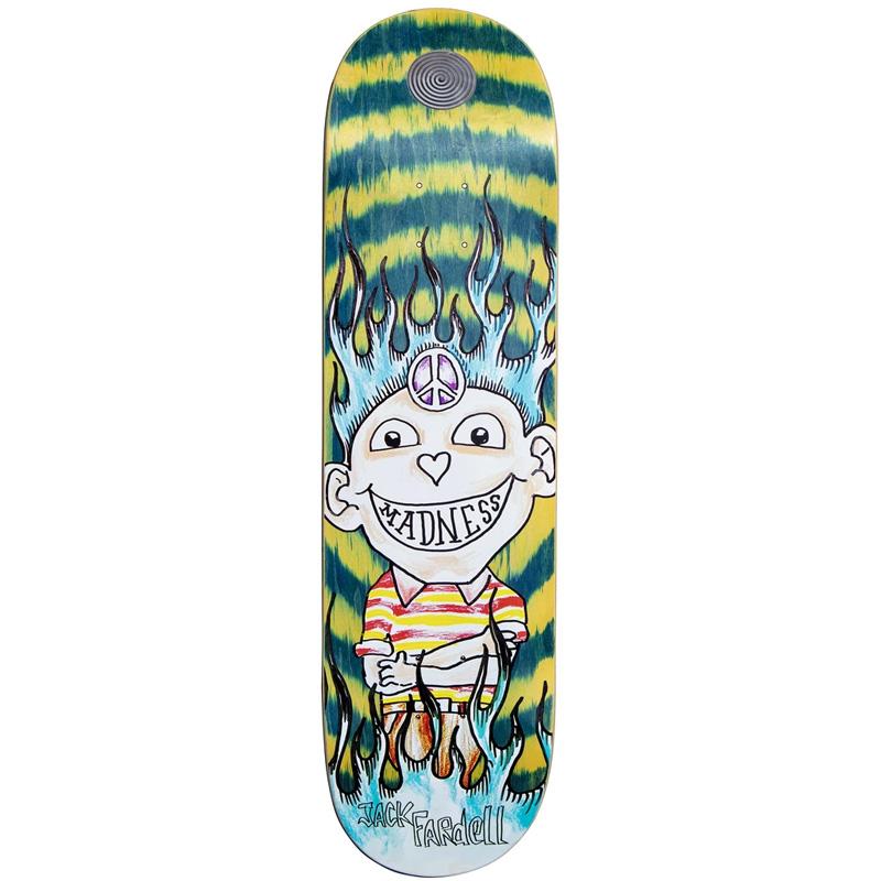 Madness Jack Gonz R7 Skateboard Deck Green Swirl 8.5