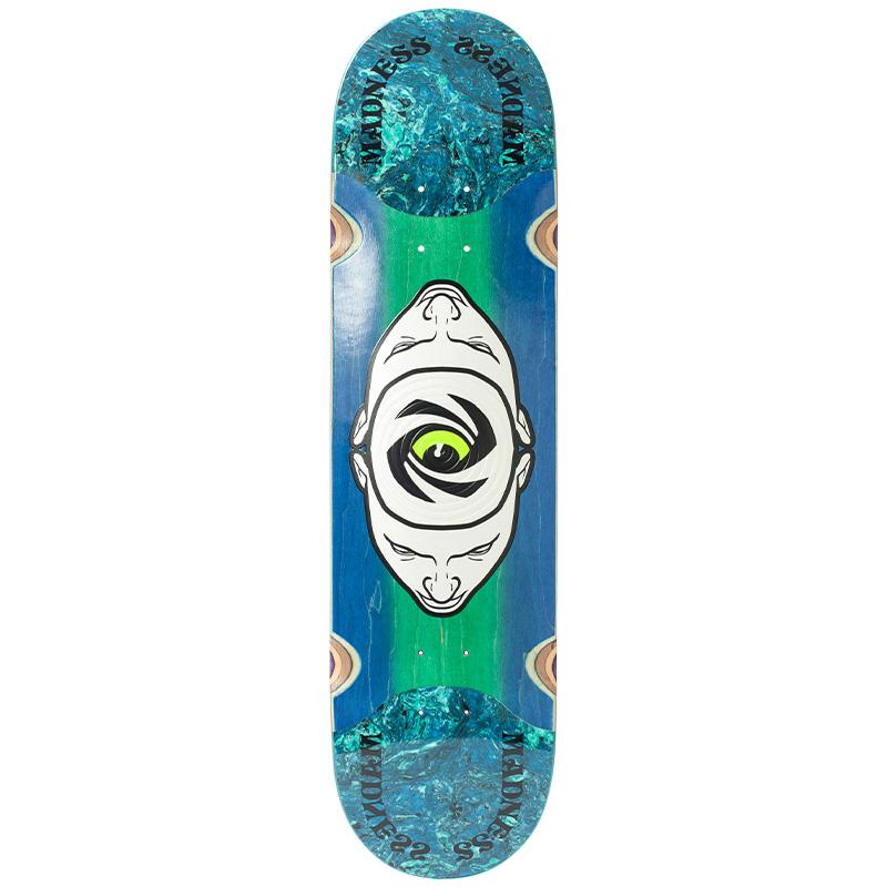 Madness Minds Eye Popsicle Slick Skateboard Deck Blue/Green 8.125
