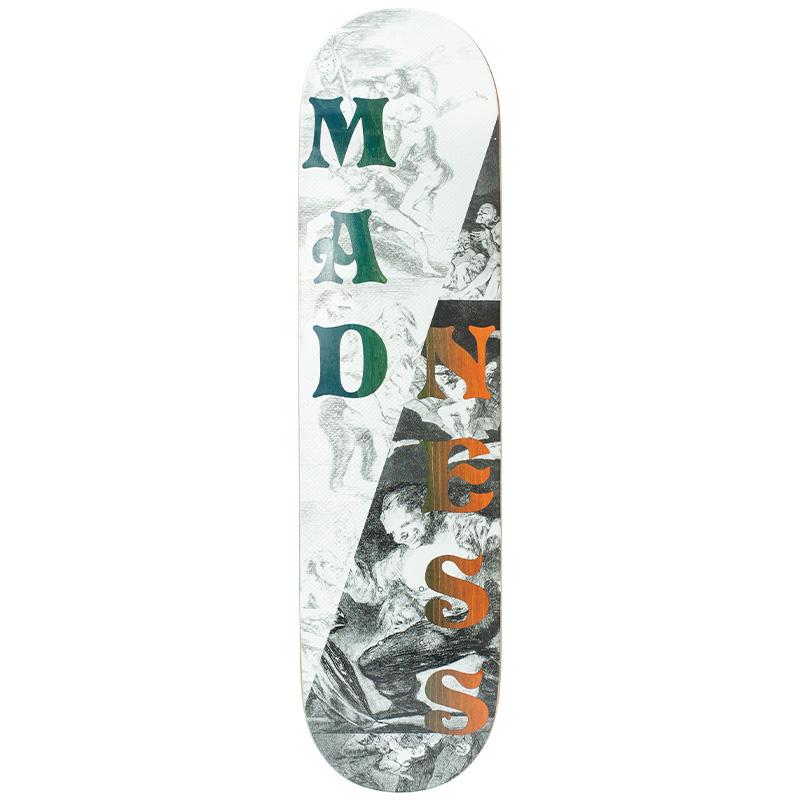 Madness Split Overlap R7 Skateboard Deck Black/White 8.0