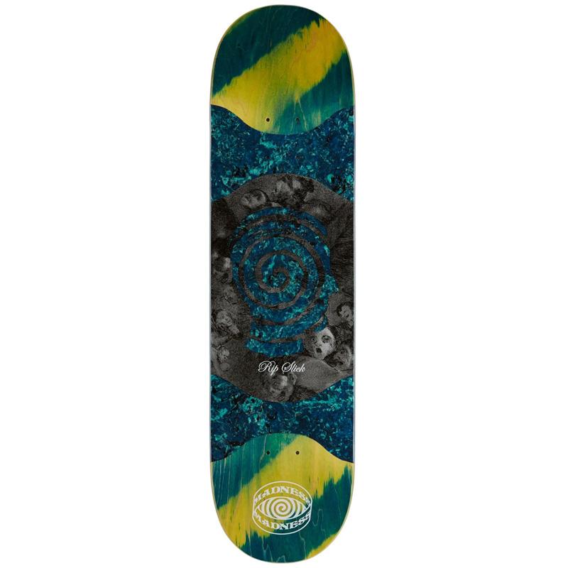 Madness Voices R7 Slick Skateboard Deck Blue/Green 8.125