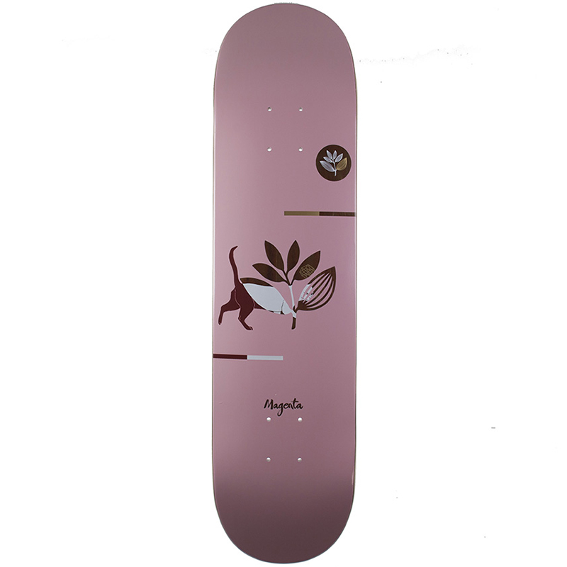 Magenta Cat Medium Skateboard Deck 8.0