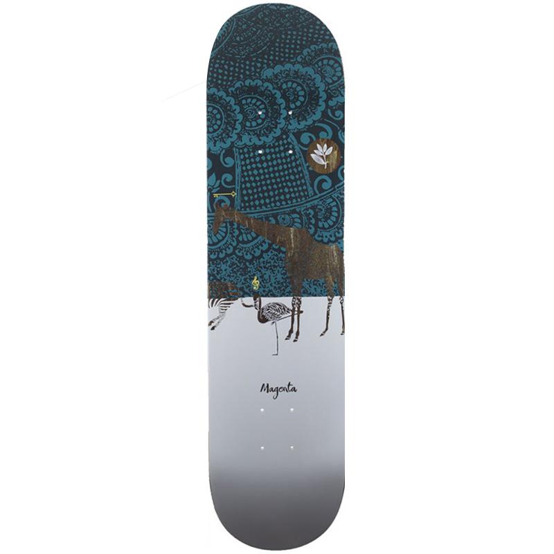 Magenta Giraffe Skateboard Deck 8.25