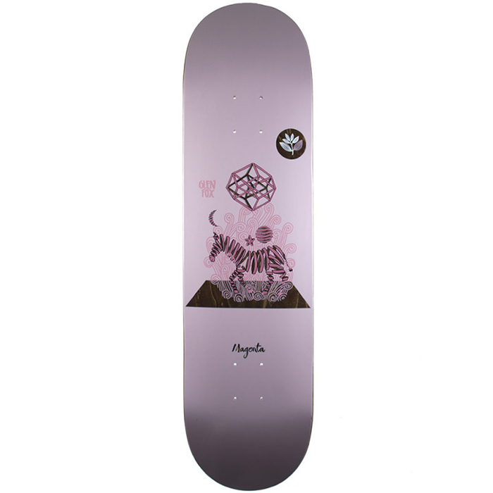 Magenta Glen Fox Perception Skateboard Deck 8.125