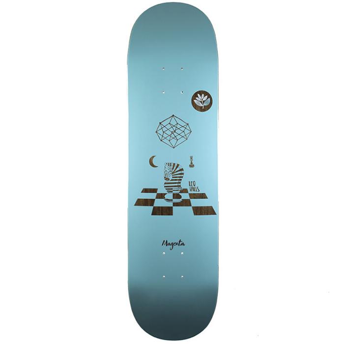 Magenta Leo Valls Perception Skateboard Deck 8.25