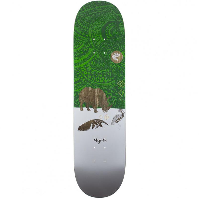 Magenta Rhino Skateboard Deck 8.125
