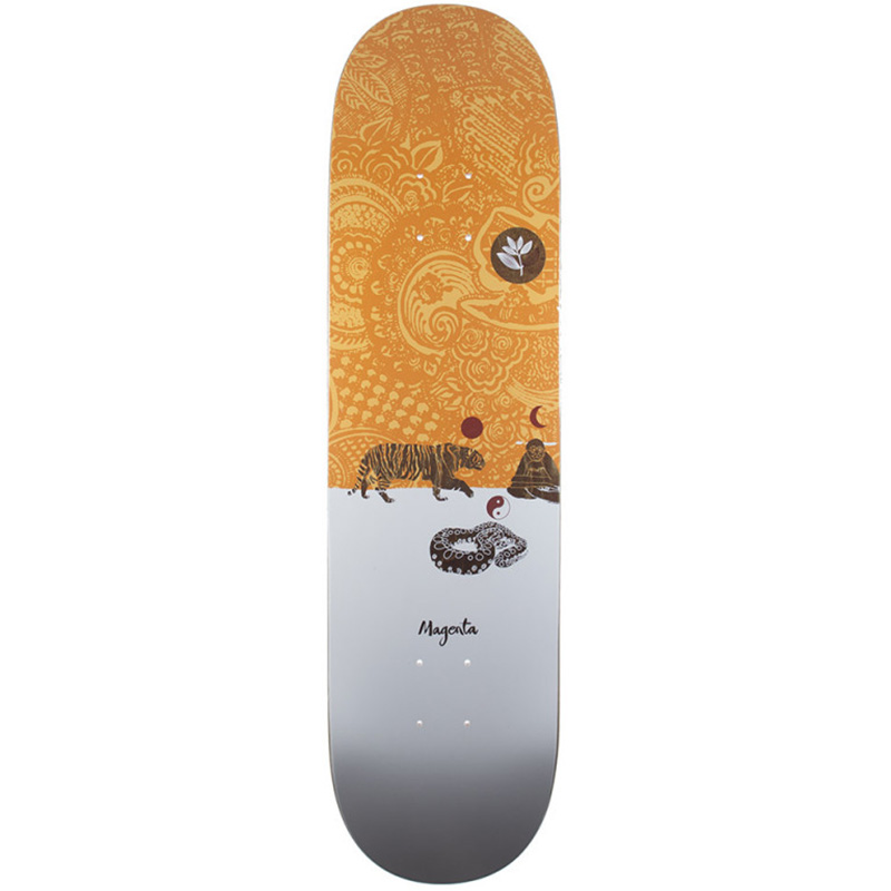 Magenta Snake Skateboard Deck 8.0
