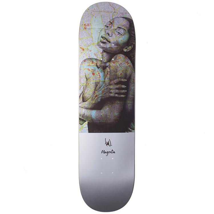 Magenta Tavu Guest Artist Big Skateboard Deck 8.25