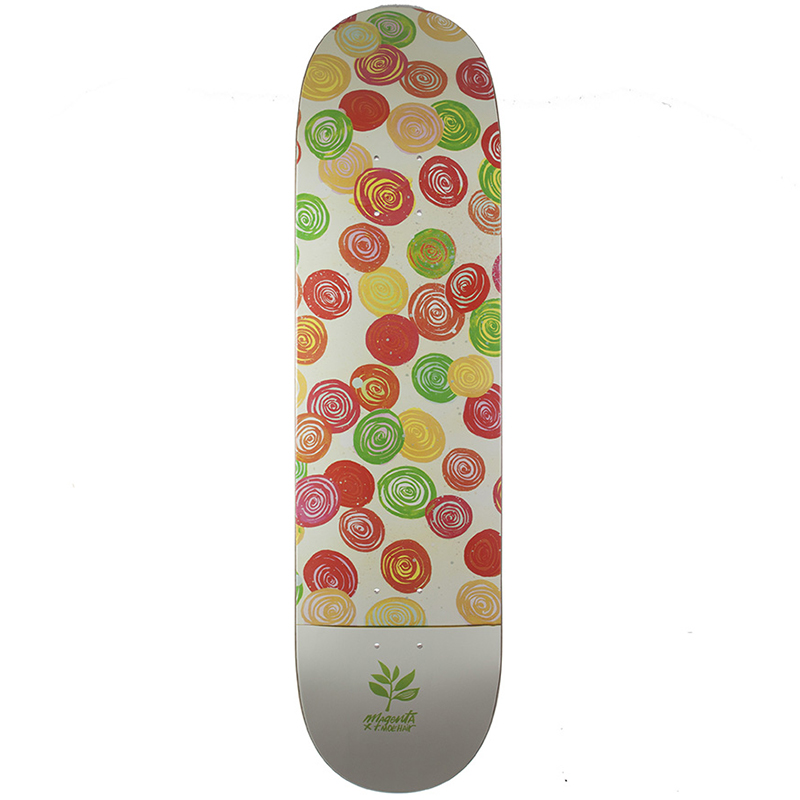 Magenta Thomas Campbell Guest Artist Medium Skateboard Deck 8.125
