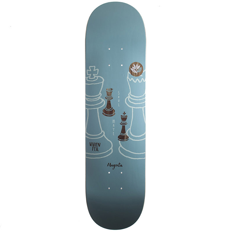 Magenta Vivien Feil Medium Skateboard Deck 8.125
