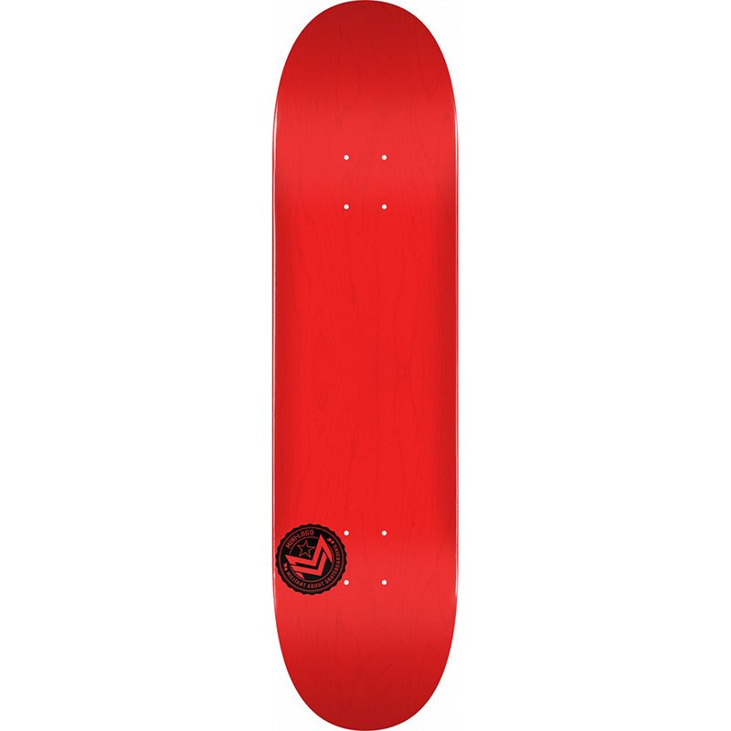 Mini Logo Chevron Stamp Skateboard Deck Dyed Red 8.5