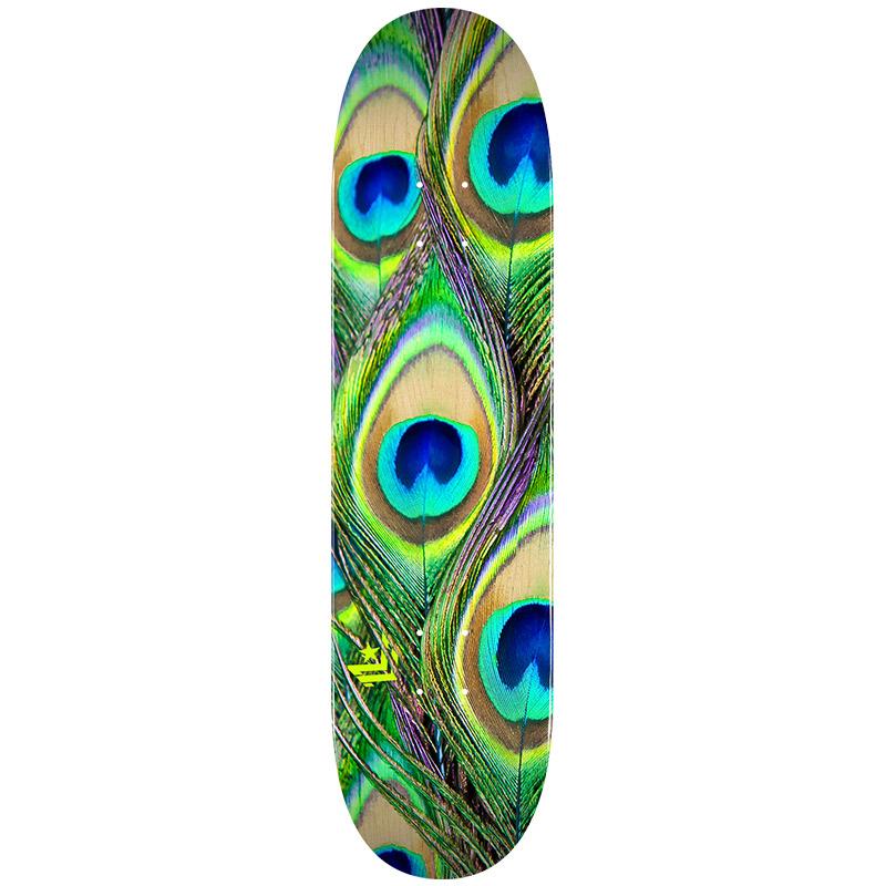 Mini Logo Peacock Feather 18 Skateboard Deck Shape 242 8.0