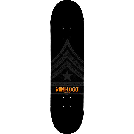 Mini Logo Quartermaster Black Skateboard Deck 8.25