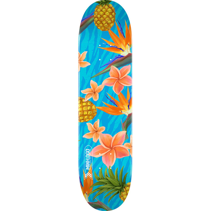 Mini Logo Small Bomb Aloha Skateboard Deck 8.25