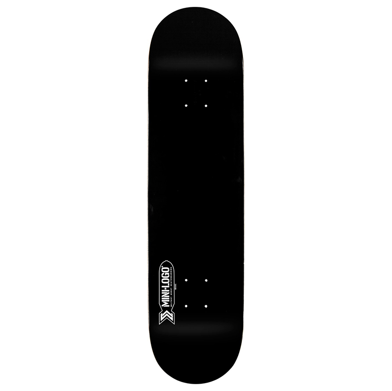 Mini Logo Small Bomb Black Skateboard Deck 7.75