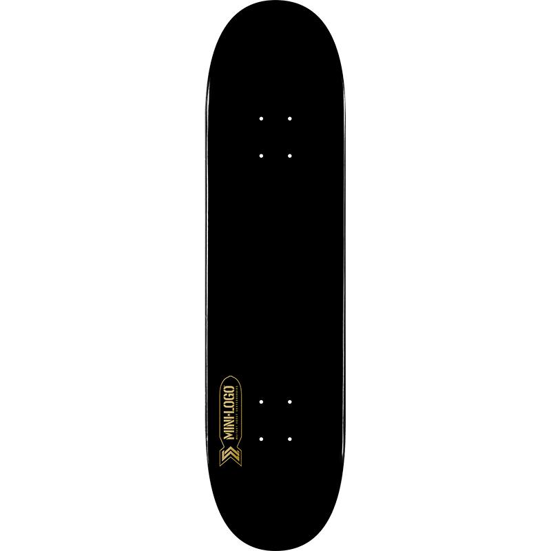 Mini Logo Small Bomb Black Skateboard Deck 8.25