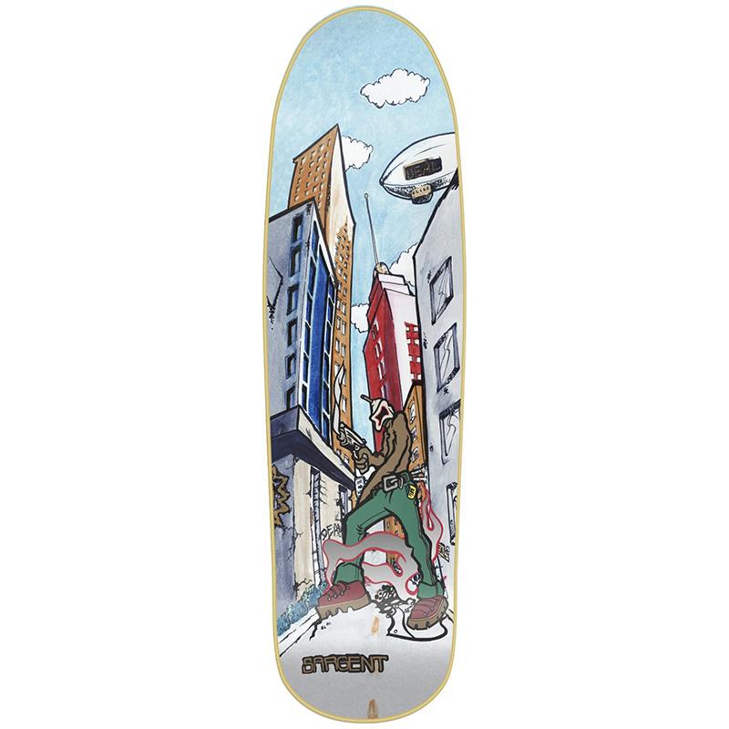 New Deal Sargent Invader Slick Skateboard Deck 9.25