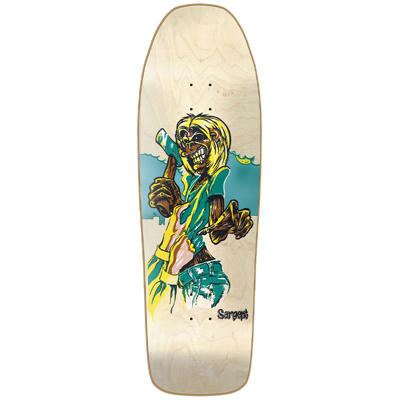 New Deal Sargent Killers Screen Printed Skateboard Deck Natural 9.825