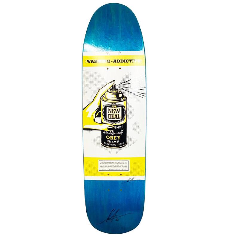 New Deal SF Shepard Fairey Skateboard Deck Yellow 8.625