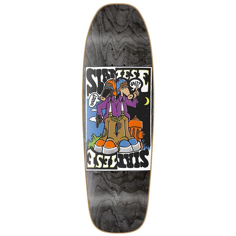 New Deal Siamese Doublekick HT Skateboard Deck Black 9.625